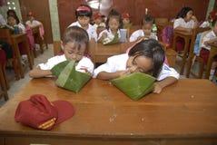 DE LAAGSTE BEKWAME GEDIPLOMEERDE VAN INDONESIË Stock Foto's