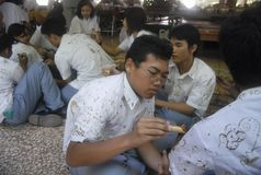 DE LAAGSTE BEKWAME GEDIPLOMEERDE VAN INDONESIË Stock Fotografie