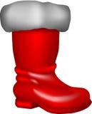 De laars van de kerstman royalty-vrije illustratie