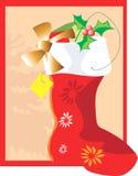De laars van de Kerstman Stock Afbeelding