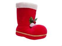 De laars van de kerstman Stock Foto's