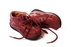 De Laarzen van de baby stock foto's