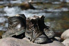 De laarzen van de berg royalty-vrije stock foto's