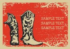 De laarzen van de cowboy Stock Foto's