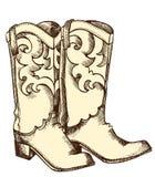 De laarzen van de cowboy. Royalty-vrije Stock Foto