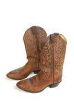 De Laarzen van de cowboy die op Wit worden geïsoleerd royalty-vrije stock afbeeldingen