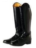 De laarzen van de paardrijdendressuur die op wit worden geïsoleerd Royalty-vrije Stock Fotografie