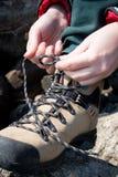 De laarzen van de rots Stock Foto's