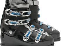 De laarzen van de ski royalty-vrije stock afbeeldingen