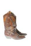 De laarzen van de veedrijfster stock fotografie