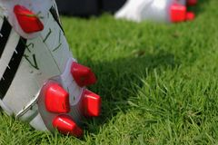 De laarzen van de voetbal Royalty-vrije Stock Foto