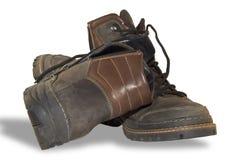 De laarzen van de winter op een witte achtergrond Royalty-vrije Stock Fotografie