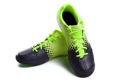 De laarzen van Footbal. De laarzen van het voetbal. Stock Afbeelding