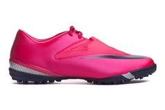 De laarzen van Footbal. De laarzen van het voetbal. Stock Afbeeldingen