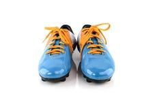 De laarzen van Footbal Voetballaarzen Geïsoleerd op wit Royalty-vrije Stock Afbeelding