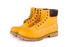 Gele laarzen stock foto's