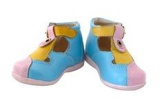 De laarzen van het de zomerleer van de baby. Royalty-vrije Stock Foto