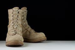 De Laarzen van het Gevecht van het leger - Hoek Stock Afbeelding