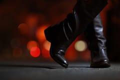 De laarzen van het leer Stock Afbeelding