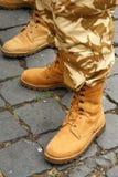 De laarzen van het leger Royalty-vrije Stock Foto