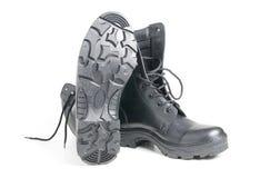 De laarzen van het leger Stock Foto's