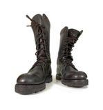 De laarzen van het leger royalty-vrije stock afbeeldingen