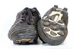 De Laarzen van het voetbal Stock Afbeeldingen