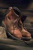 De laarzen van het werk Stock Afbeeldingen