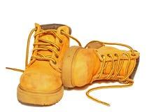 De laarzen van het werk Stock Afbeelding