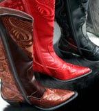 De Laarzen van Sequined royalty-vrije stock foto