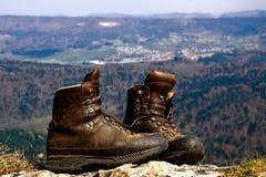 De laarzenvooruitzicht van de wandeling Stock Foto