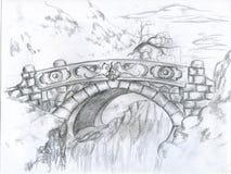 De laatste brug Stock Afbeeldingen