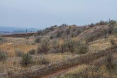 De laatste dagen in de Tavrian-steppe stock afbeeldingen