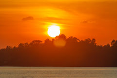De laatste stralen van de zon. Royalty-vrije Stock Afbeeldingen