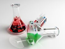De laboratorium tust buizen Stock Afbeelding