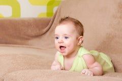 De lach van de baby Royalty-vrije Stock Afbeelding