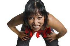 De lach van de vrouw Royalty-vrije Stock Foto
