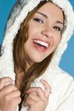 De lachende Tiener van de Winter Stock Afbeeldingen
