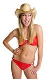 De lachende Vrouw van de Bikini Royalty-vrije Stock Foto's