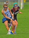 De lacrosse droped bal Royalty-vrije Stock Afbeelding