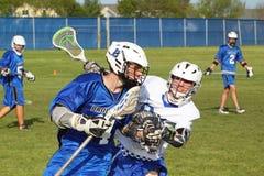 De Lacrosse van de middelbare school Stock Foto