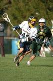 De Lacrosse van de jongensmiddelbare school stock foto's