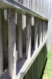 De Ladder van de aluminiumtuin op omheining Royalty-vrije Stock Afbeeldingen
