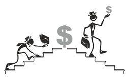De ladder van de carrière Stock Illustratie