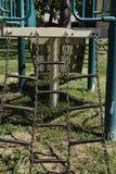 De Ladder van de ketting in Speelplaats stock foto's