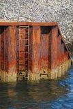 De ladder van de pijler Stock Fotografie