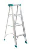 De ladder van de stap die op witte achtergrond wordt geïsoleerde Stock Afbeeldingen