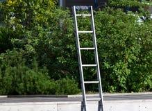 De ladder van het aluminium Stock Foto