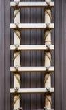 De Ladder van het bamboe royalty-vrije stock afbeelding