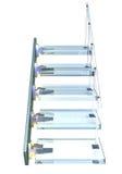 De ladder van het glas Royalty-vrije Stock Afbeeldingen